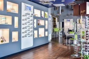 The Eye Group in West Knoxville showroom and glasses display