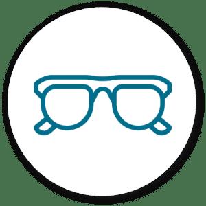 The Eye Group glasses lenses icon